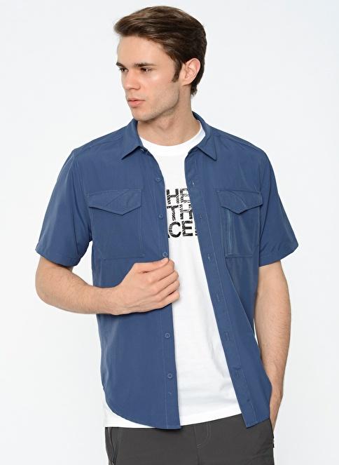 The North Face Kısa Kollu Gömlek Mavi